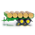 round bale trailer with bales