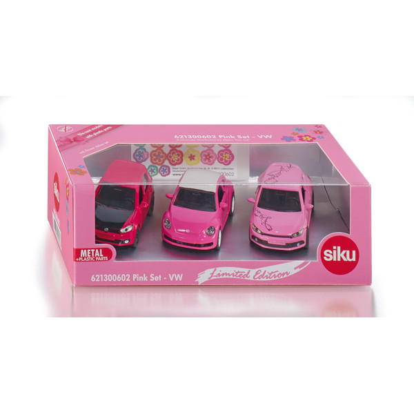 mini 3-car gift set - limited edition - pink
