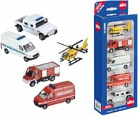 5 rescue vehicles - gift set - 1:55 scale