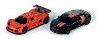 siku - special edition - gumpert apollo and audi r8 - black and orange