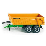joskin twin axel tipping trailer with storage battery