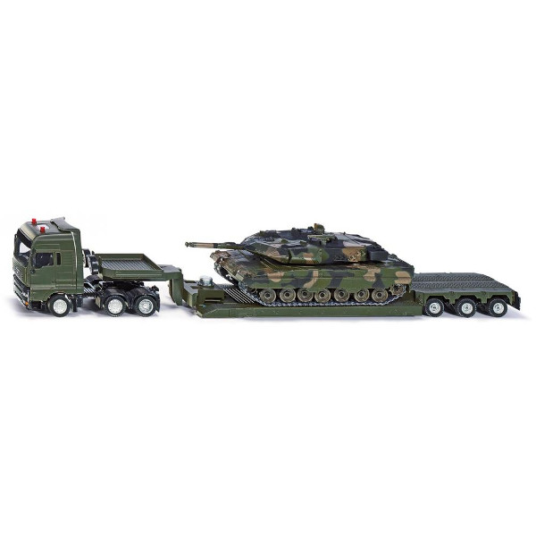 1:55 low loader with military tank